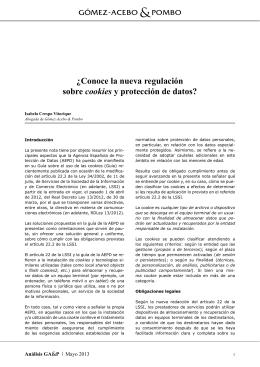 ¿Conoce la nueva regulación sobre cookies y protección de datos?
