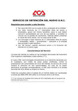 DNI - Automóvil Club Argentino