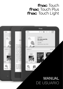 Manual Fnac Touch, Fnac Touch Plus y Fnac Touch Light