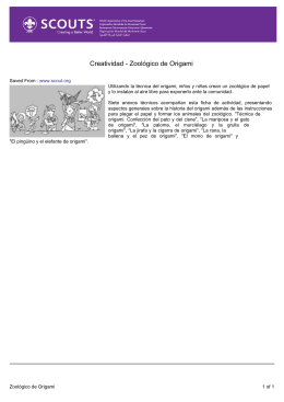 Creatividad - Zoológico de Origami