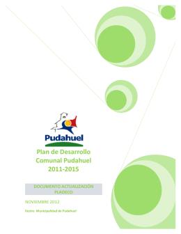 pladeco - Municipalidad de Pudahuel