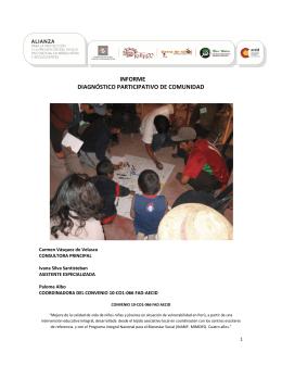informe diagnóstico participativo de comunidad
