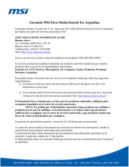 Garantía MSI Para Motherboards En Argentina
