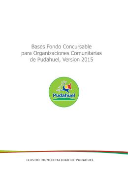 Bases Fondos Concursables 2015