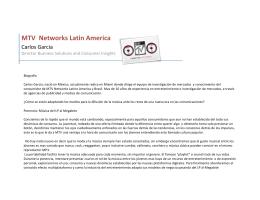 Carlos Garica MTV 3er Congreso Iberoamericano de Cultura