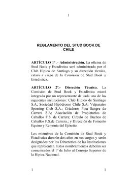 reglamento del stud book de chile