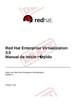 Red Hat Enterprise Virtualization 3.0 Manual de inicio rápido