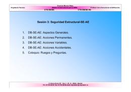 Seguridad Estructural-SE-AE. Parte III