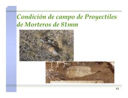 Condición de campo de Proyectiles de Morteros de 81mm