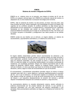 EIMOS, Sistema de mortero integrado de EXPAL