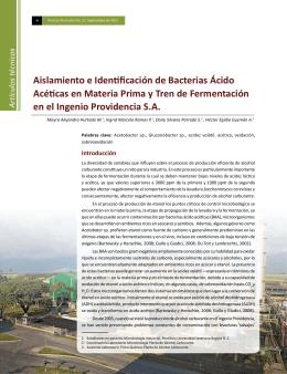 Aislamiento e Identificación de Bacterias Ácido Acéticas