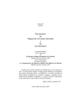 Documentos de Miguel de Cervantes Saavedra y de sus familiares