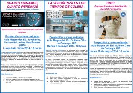 Proyección y mesa redonda - Universitat de les Illes Balears