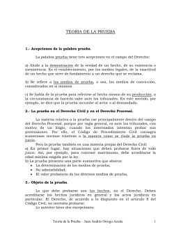 TEORIA DE LA PRUEBA - Poder Judicial del Perú
