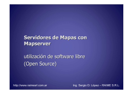 Servidores de Mapas con Mapserver utilización de software libre