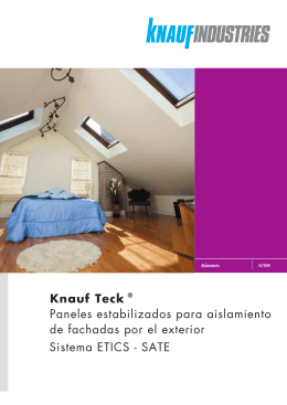 Knauf Teck ® Paneles estabilizados para