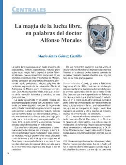 La magia de la lucha libre, en palabras del doctor Alfonso Morales