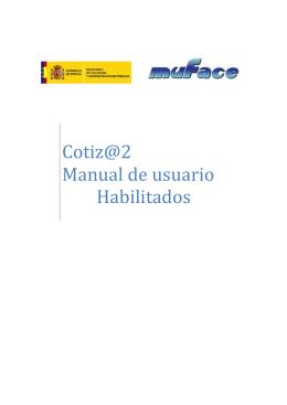 2.1 Oinarrizko erabiltzailearen Gaituta Cotiz@ Aplicaciones