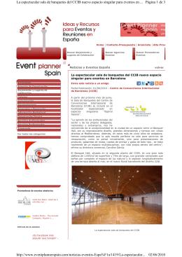 Artículo - Centre de Convencions Internacional de Barcelona