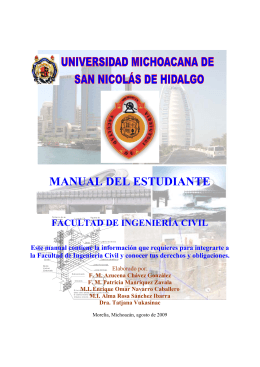Manual del estudiante - Facultad de Ingeniería Civil