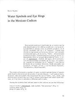 Water Symbols and Eye Rings in the Mexican Codices
