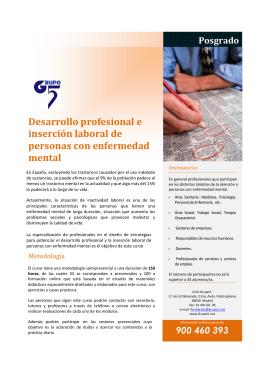 Desarrollo profesional e inserción laboral de personas con
