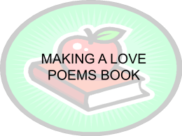 MAKING A LOVE POEMS BOOK