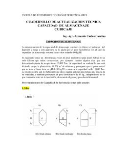 cuadernillo de actualizacion tecnica capacidad de almacenaje