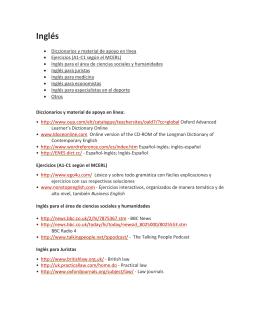 Inglés - Centro Universitario de Ciencias Sociales y Humanidades