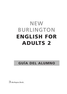 new Burlington ENGLISH FOR ADULTS 2