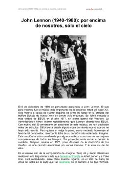 John Lennon (1940-1980): por encima de nosotros, sólo el cielo