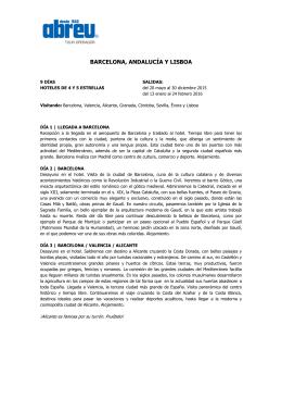 BARCELONA, ANDALUCÍA Y LISBOA