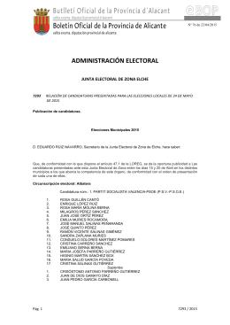 Butlletí Oficial de la Província d´Alacant Boletín Oficial de la