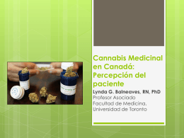 Medical Cannabis in Canada: Policy and Patient Perspectives