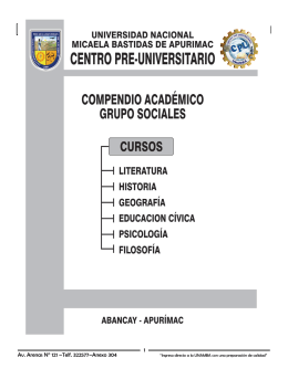 grupo sociales - Universidad Nacional Micaela Bastidas de Apurímac