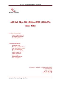 Archivo oral del sindicalismo socialista