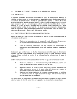 3.1-1 3.1 SISTEMA DE CONTROL DE AGUA DE ALIMENTACION