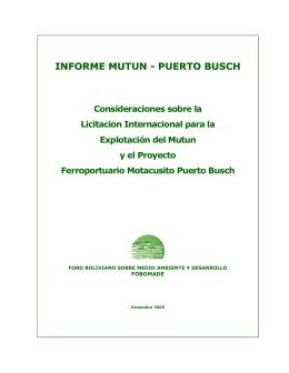 INFORME MUTUN - PUERTO BUSCH