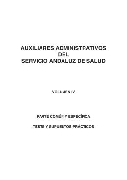 AUXILIARES ADMINISTRATIVOS DEL SERVICIO ANDALUZ DE