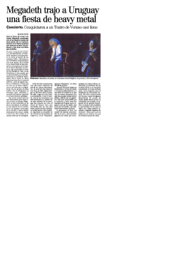 Megadeth trajo a Uruguay una fiesta de heavymetal