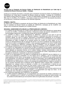 Acuerdo CLARO TVSAT