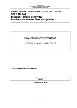 Argentina REQUERIMIENTOS TÉCNICOS