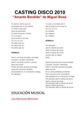 Amante bandido - EL RINCÓN DE DON LU