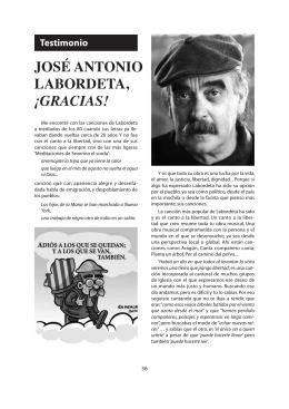JOSÉ ANTONIO LABORDETA, ¡GRACIAS!