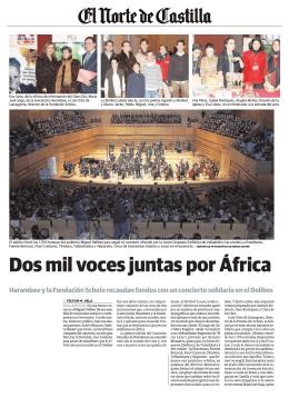 El Norte de Castilla: Dos mil voces juntas por África
