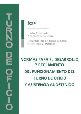 normas del turno 2013 - Ilustre Colegio de Abogados de Valencia