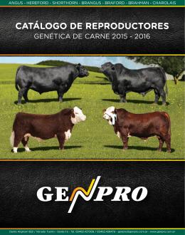 GENPRO Catalogo de Reproductores 2015