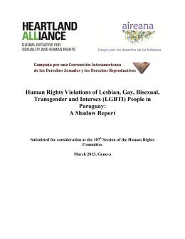 Human Rights Violations of Lesbian, Gay, Bisexual