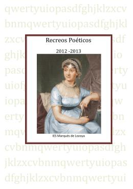 Recreos Poéticos - IES Marqués de Lozoya