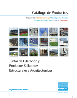 EMSEAL Catálogo de Productos